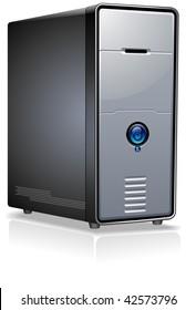 Realistic Case of Computer / Server / Workstation