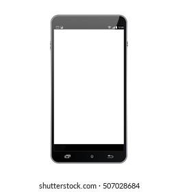 Realistic Cellphone Smartphone Device.Smart phone, realistic vector illustration.