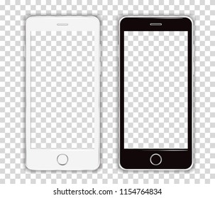Realistic Cellphone Smartphone Vector of Touchscreen Phone frame Device