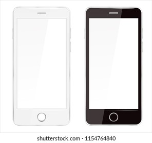 Realistic Cellphone Smartphone Vector of Touchscreen Phone Device