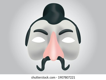 Realistic Chinese mask made in vectors