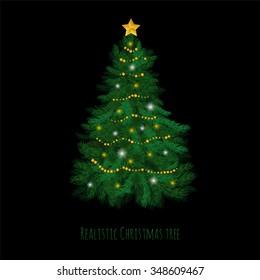Realistic Christmas spruce tree.