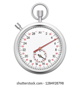 Realistic chronometer isolated on white background
