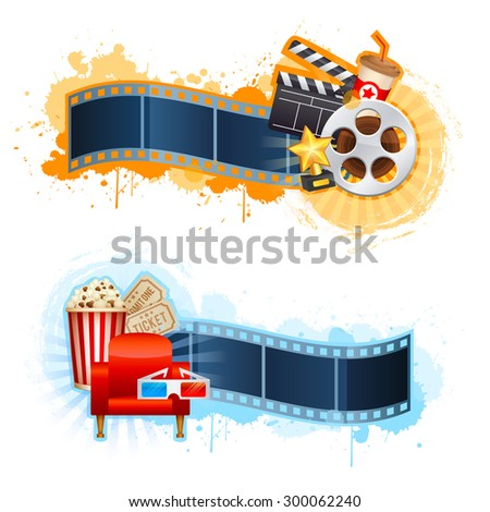 realistic cinema movie poster template film stock vector royalty