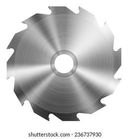 Realistic circular saw blade. Vector illustration.