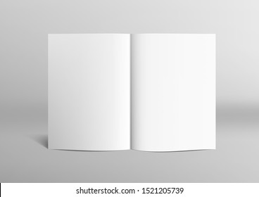 Realistic Clear 3D Brochure, Magazine Or Book Mock Up. EPS10 Vector