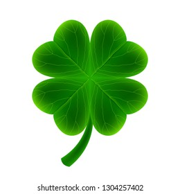 Realistic clover icon isolated on white