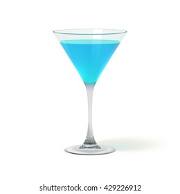 Realistic Cocktail Glass, Vector EPS10 Illustration