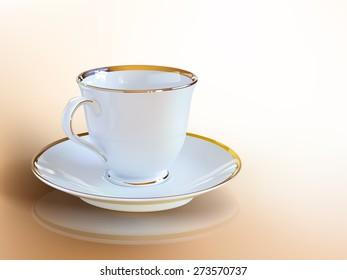 Realistic coffee cup of vector art