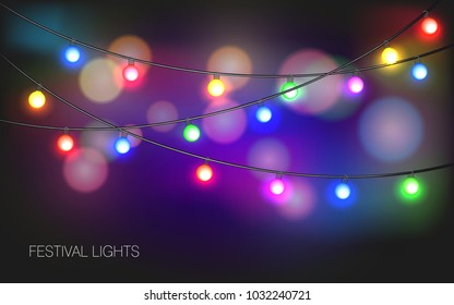 Realistic colored lights