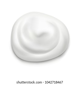 Realistic Cream on white background.