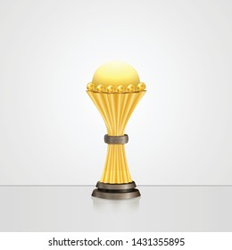 Realistic cup award for African Nations Cup 2019 - isolated on white background