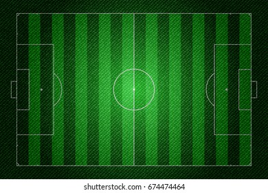 Realistic Denim texture of Soccer field element vector illustration design concept