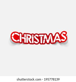 realistic design element: christmas