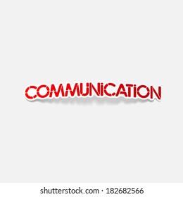 realistic design element: communication