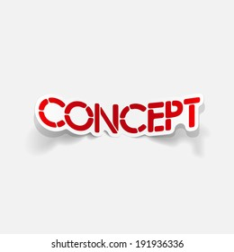 realistic design element: concept