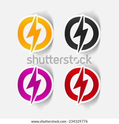 Realistic Design Element Lightning Bolt Stock Vector (Royalty Free
