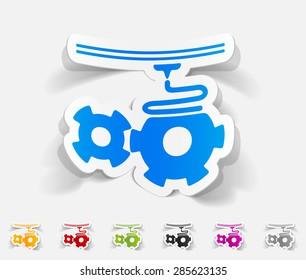 realistic design element. three d printer