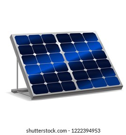Realistic Detailed 3d Solar Panels with Shadow Alternative Energy Power and Renewable Modern Technology Concept. Vector illustration