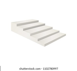 realistic template blank white staircase stairs stock vector