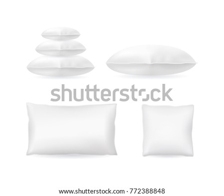 realistic detailed 3 d template blank white stock vector royalty
