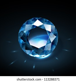 Realistic diamond vector