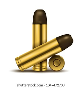 Realistic display of Bullets. Suitable for Advertising, Exhibition, Military and other. Vector Illustration