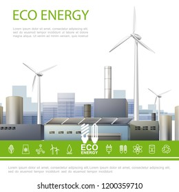 Realistic Eco Energy Colorful Concept