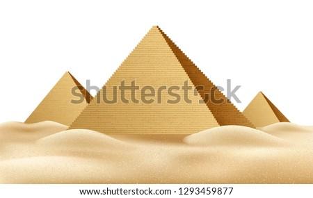 Realistic Egypt pyramids Famous