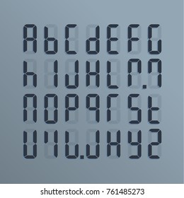 A realistic electronic alphabet from A to Z. Dial on the screen