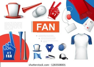 Realistic Fans Accessories Collection