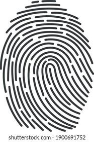 realistic fingerprint icon, labyrinth vector