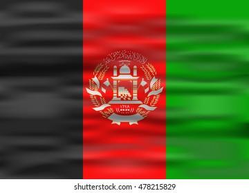 realistic flag afghanistan