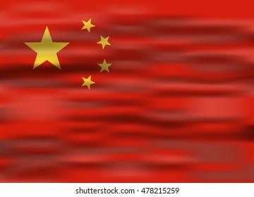 realistic flag china