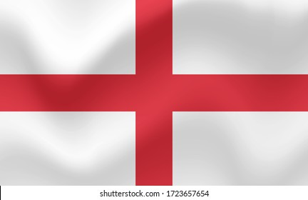 Realistic flag of england. Vector illustration of symbol of England country.