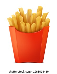 Realistic French Fries Vector