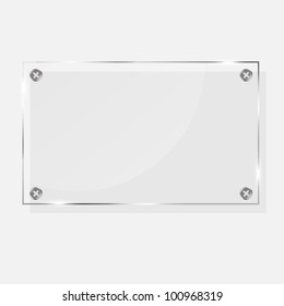 realistic glass frames. Vector illustration.