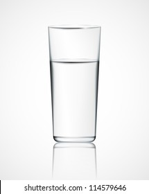 Realistic glass of water. Eps 10
