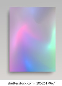 Realistic glowing hologram paper backdrop for cards, invitations, posters and web design.