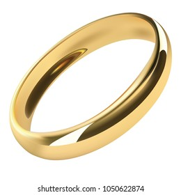 Realistic gold ring