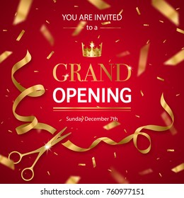 Realistic Grand Opening Invitation Pattern