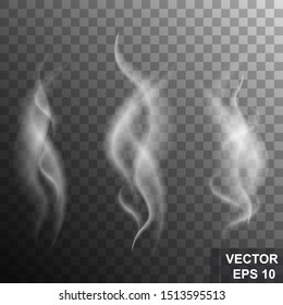 Realistic gray smoke. To burn. Explosion. For your design.