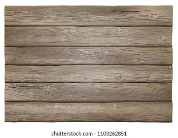 Realistic gray weather-stained vector wooden background. Highly detailed, photorealistic. Hand drawn without trace.