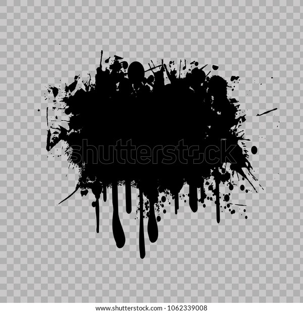 Realistic grunge graffiti spray paint effect on transparent background. Vector