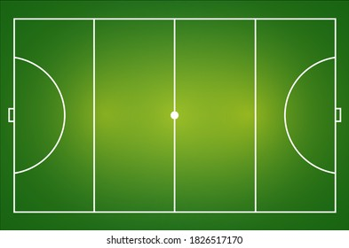 Realistic hockey field top view vector