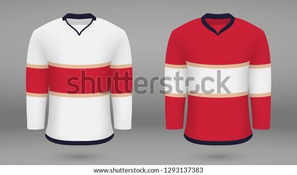 cheaper bdba4 41159 Realistic Hockey Kit Florida Panthers Shirt Stock Vector ...
