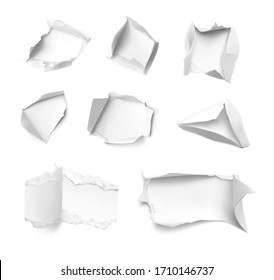 Realistic hole in paper. Vector illustration element ready for your design.EPS10.