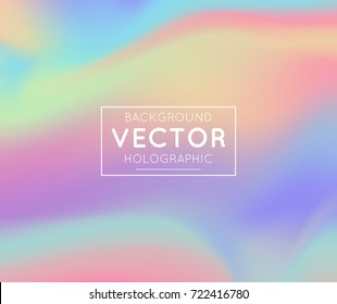 Realistic holographic backgrounds in different colors for design. Hologram to create trendy modern design. Backgrounds for design cards, Mockup , pattern design to printing. Vector Illustration.