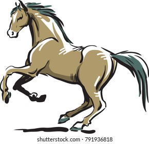 realistic horse brown