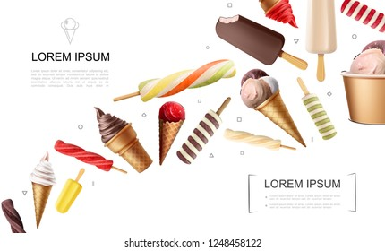 Realistic Ice Cream Concept